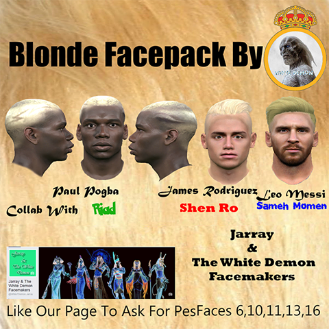 PES 2016 Facepack With Blonde
