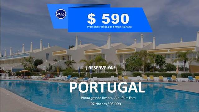 Portugal  Plan familiar para 04  personas Noviembre  2018