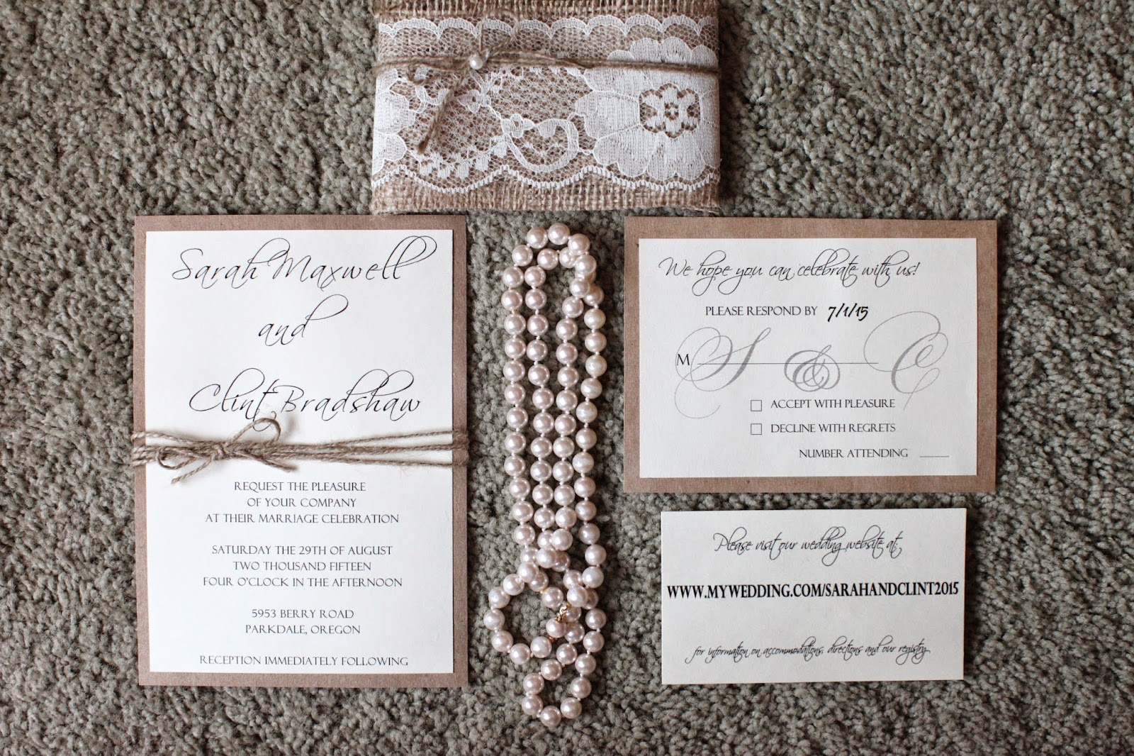 Rustic Diy Wedding Invitations: His, Hers And Ours DIY: RUSTIC CHIC WEDDING INVITATIONS
