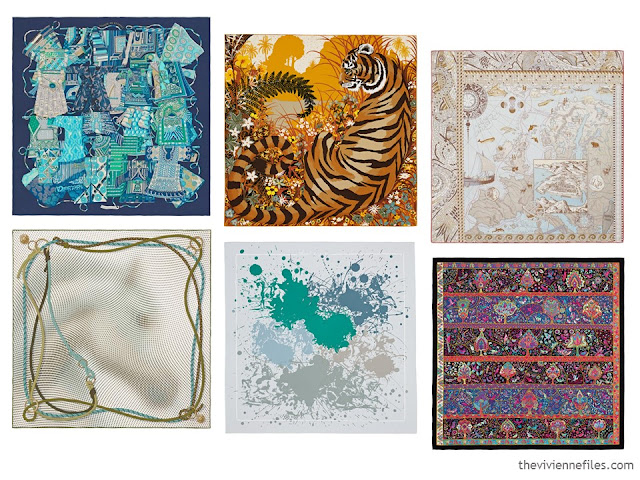 6 Hermes scarves from Spring 2016