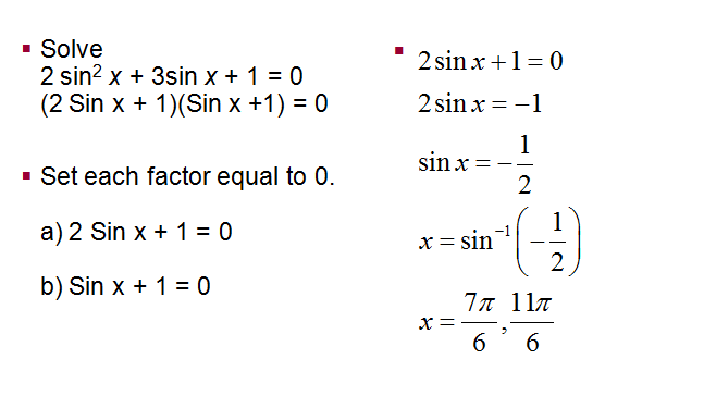 Solving Trigonometric Equations,More on Trigonometric Equations ,Trigonometric Equations Involving Multiples Angles ,Parametric Equations and Further Graphing
