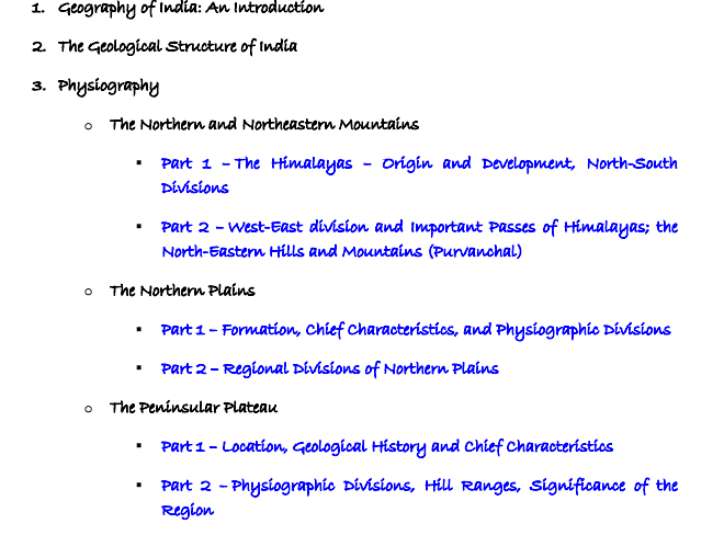 Indian Geography Notes for Competitive Exams PDF Download