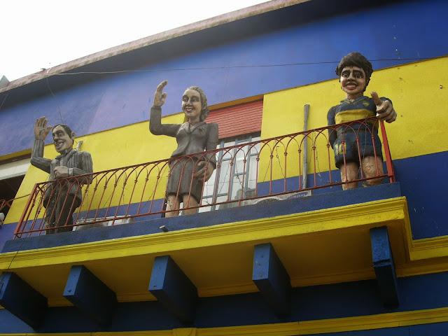 Três personalidades das mais famosas da Argentina - La Boca, Buenos Aires, Argentina