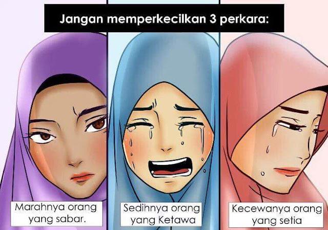 Jangan Memperkecilkan 3 Perkara - Sabar, Sedih Dan Kecewa