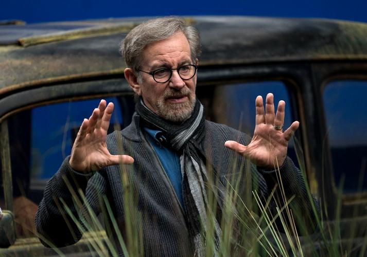 Steven Spielberg en el rodaje de Mi amigo el gigante