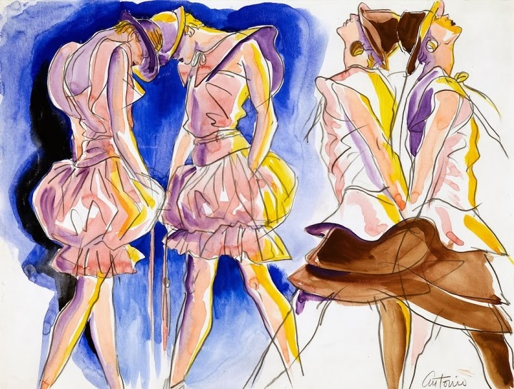 Antonio Lopez Valentino for Vanity 1982 Pencil and watercolour on paper