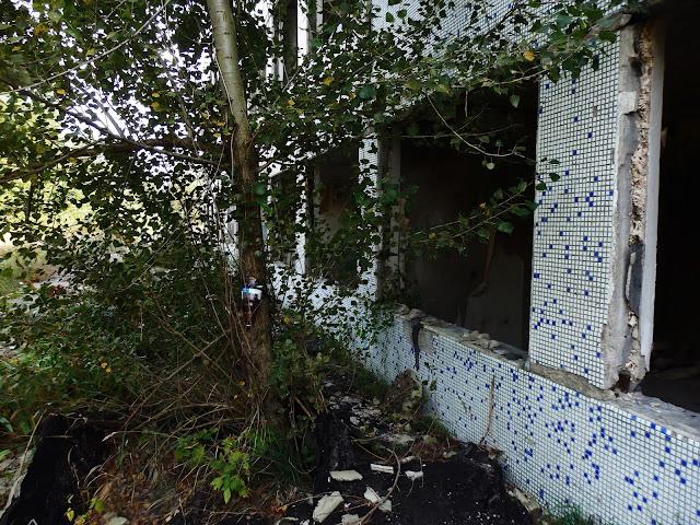 Ruiny budynków administracyjnych w Orbicie