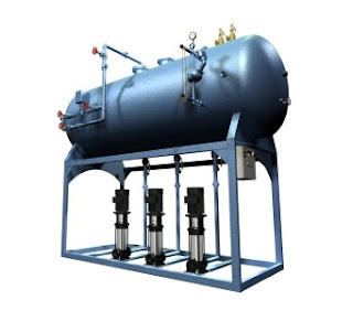spray type feedwater deaerator for boiler