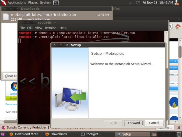 Cyber Survivals: Installing Metasploit Community Edition on