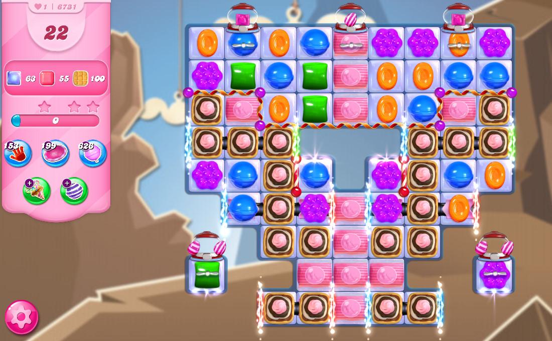 Candy Crush Saga level 6731
