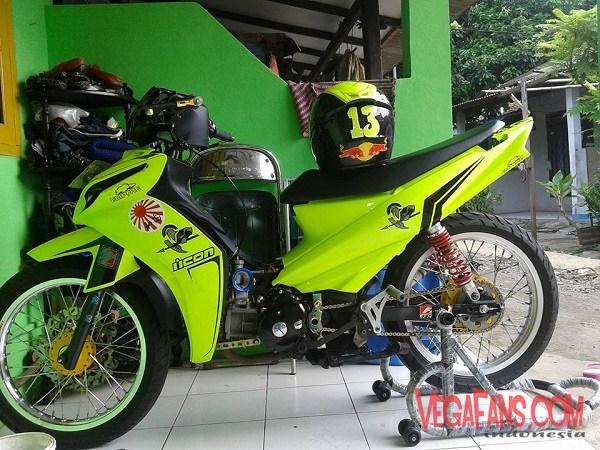Modifikasi Vega ZR Road Race Kuning