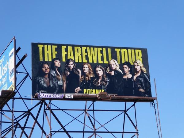 Pitch Perfect 3 film billboard