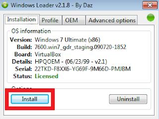Phần mềm Windows Loader