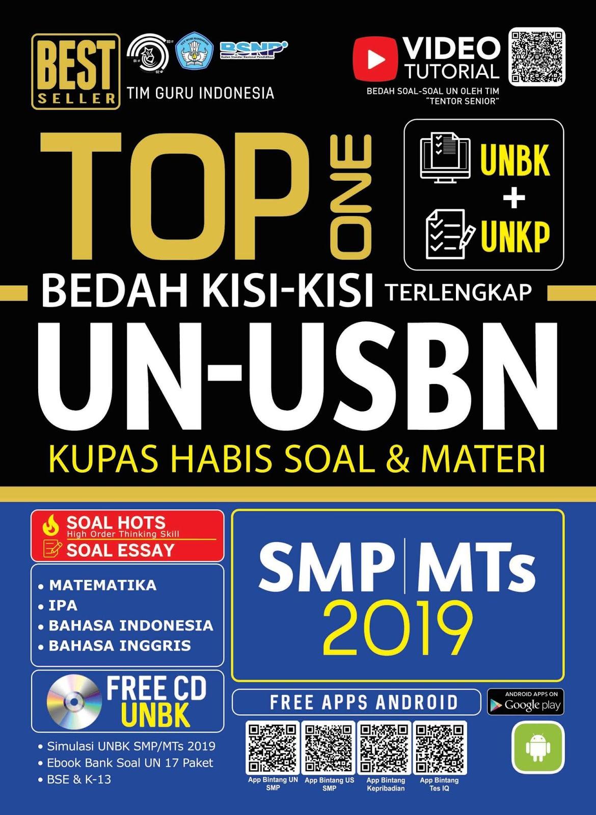 Top One Bedah Kisi-Kisi UN dan USBN terlengkap Untuk SMP