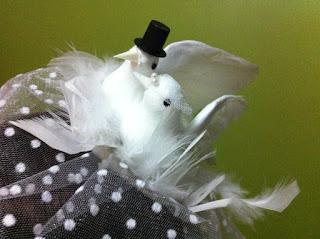 beyaz güvercin nikah şapkası satın al