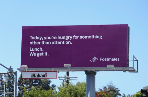 hungry for Lunch Postmates billboard