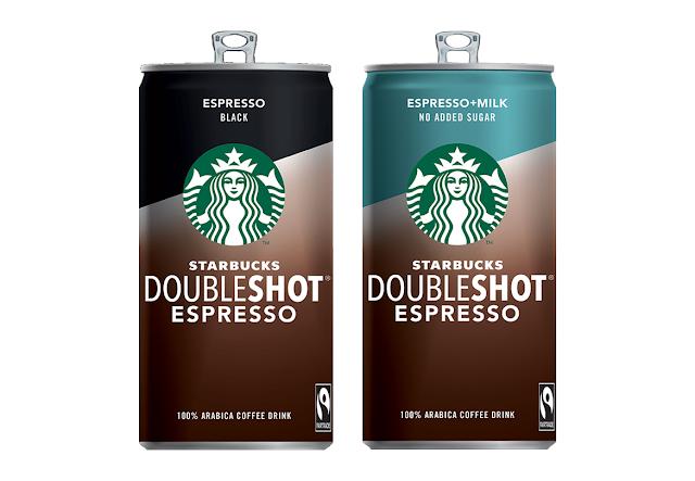 Новые напитки Starbucks Doubleshot Espresso, Новые напитки Старбакс Doubleshot Espresso  Starbucks Doubleshot Espresso Black и Starbucks Doubleshot Espresso + Milk без сахара состав цена стоимость пищевая ценность Россия 2018