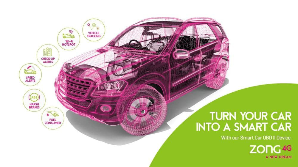 Zong 4G launches Pakistan's first Smart Car solution device