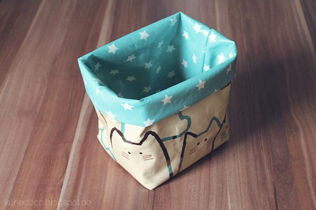 KuneCoco • DIY • Utensilo aus Wachstuch • Fertig