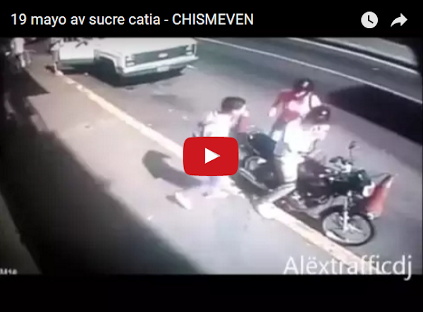 Así atracaron a dos mensajeros motorizados en la Av Sucre de Catia
