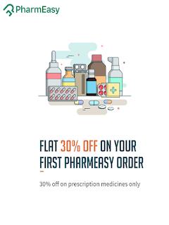 Pharmeasy Offer Flat 30% off on your first medicine order via Pharmeasy