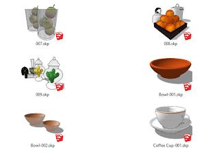 3D komponen sketchup cup coffe