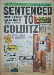 Vintage Sunday Sport newspaper from August 1987