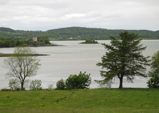 View of Doe Castle from the east side of Sheephaven Bay, County Donegal, Ireland