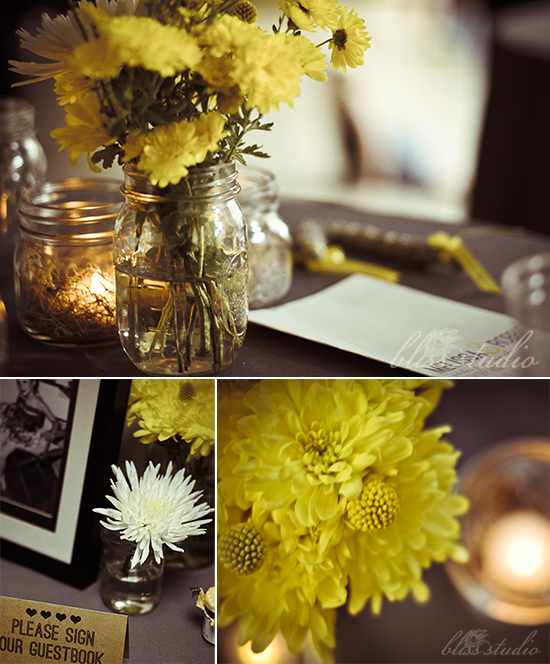 Flowers In Jars Wedding: Bubby And Bean ::: Living Creatively: Our D.I.Y. Wedding