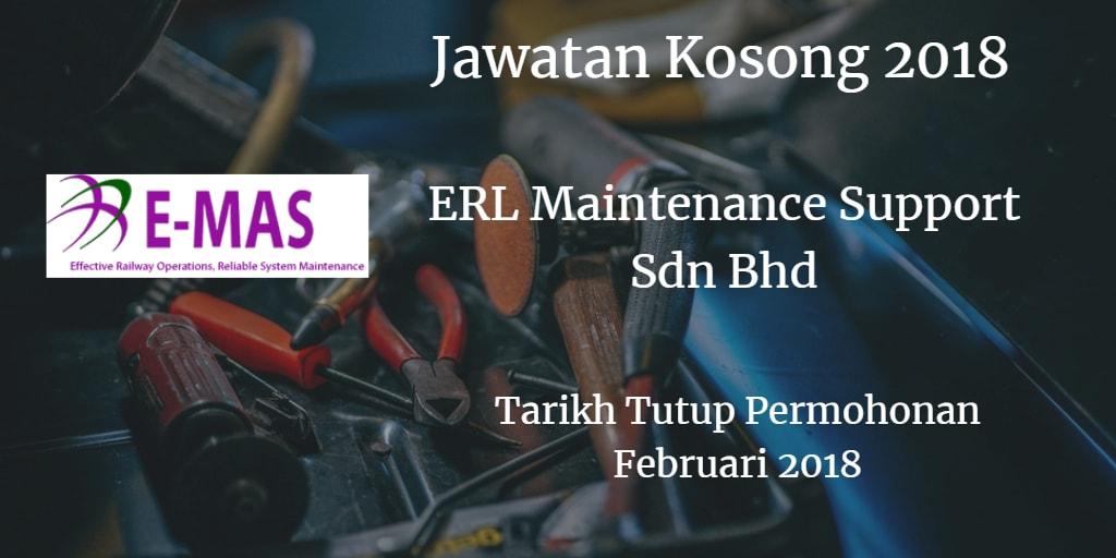 Jawatan Kosong ERL Maintenance Support Sdn Bhd Februari 2018