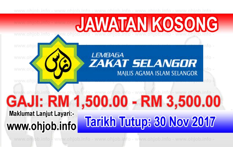 Jawatan Kerja Kosong Lembaga Zakat Selangor logo www.ohjob.info november 2017