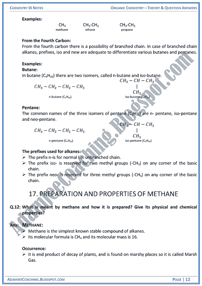 Class Xii Chemistry Notes Pdf