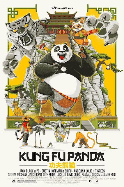 Kung-Fu Panda Movie Poster Screen Print by Patrick Connan x Bottleneck Gallery