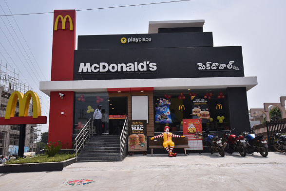 McDonald's opens its first restaurant in Vijayawada, the business capital of the state