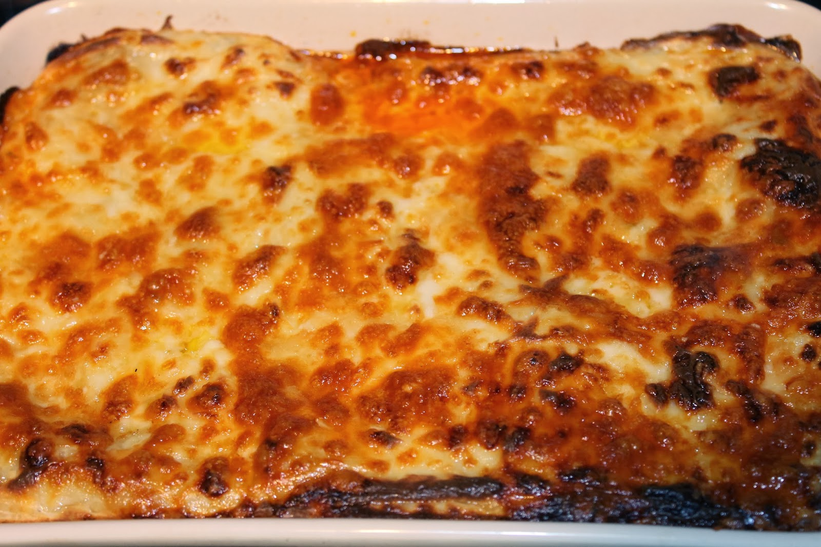 Lasagne out of the oven - www.jibberjabberuk.co.uk