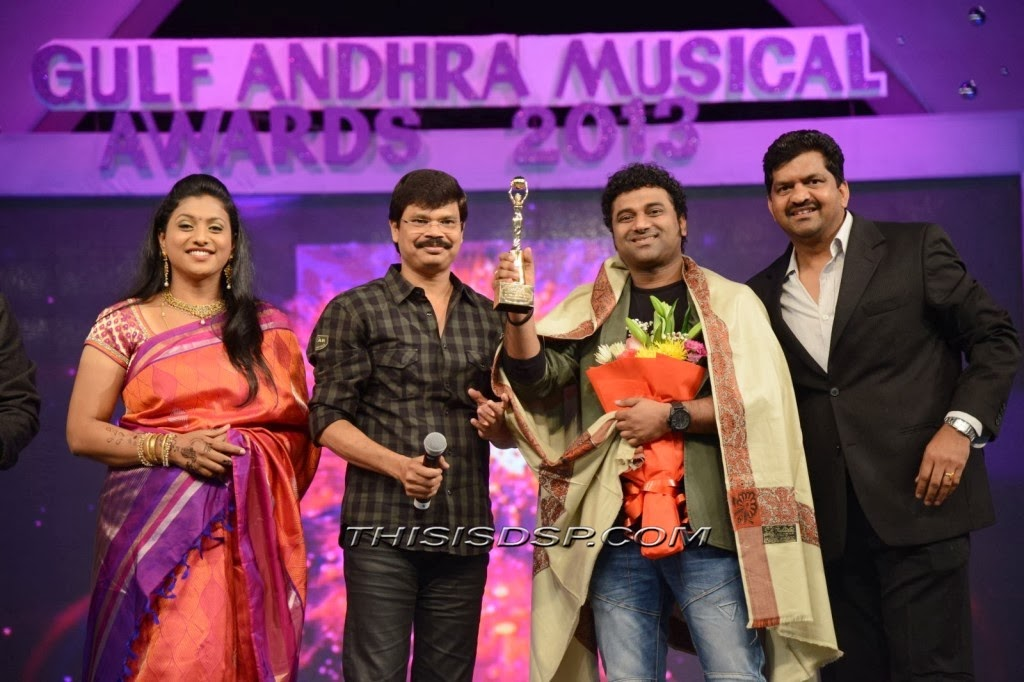 Devi Sri Prasad at Gulf Andhra Musical Awards (GAMA ) 2013