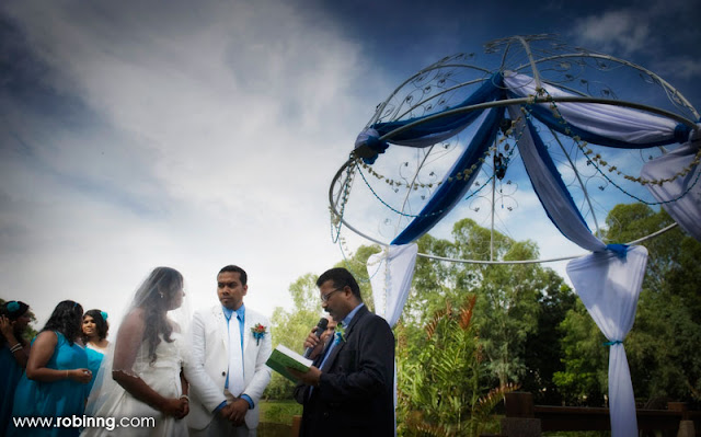 garden wedding at bandar botanic