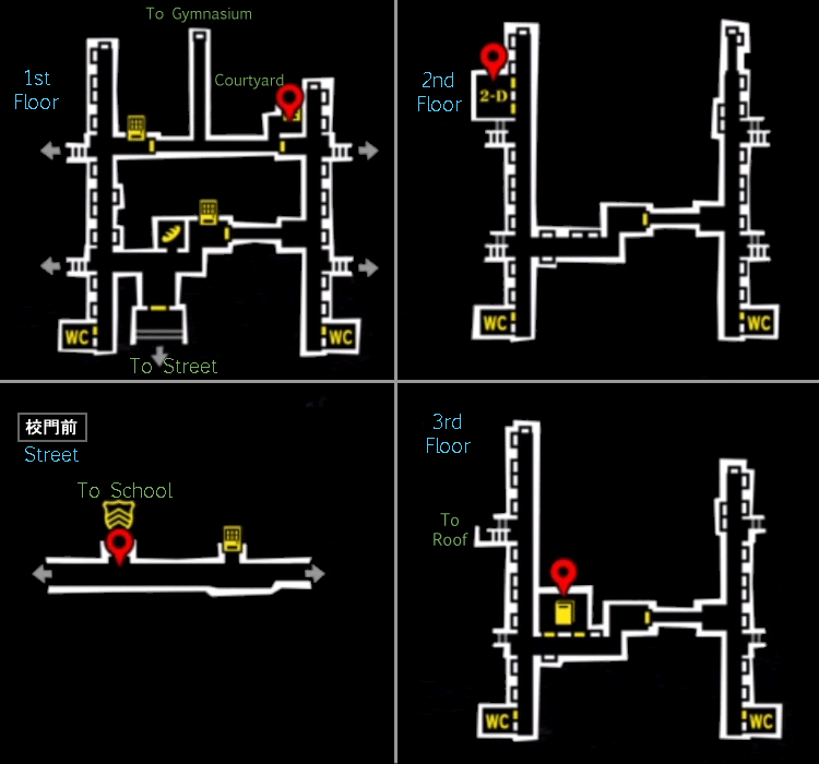 Persona 5 Subway Map.Persona 5 Area Maps Up On The Ladder