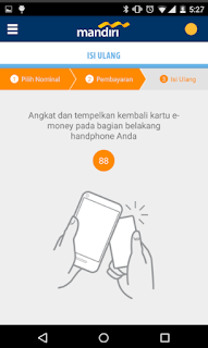 Cara top up via Aplikasi mandiri e-money isi ulang 6