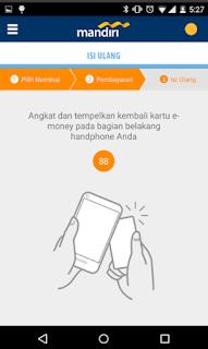 Cara top up via Aplikasi mandiri e-money isi ulang 6