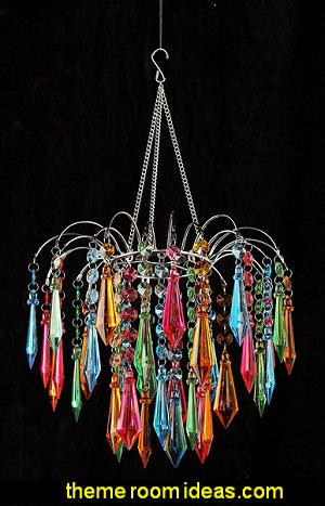 Waterfall Chandelier, Multi Colored