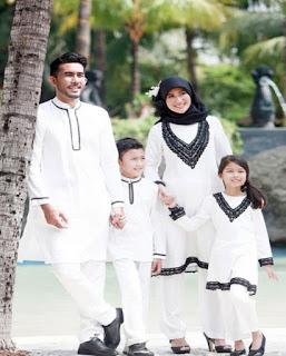 Model Baju Lebaran Keluarga Warna Putih