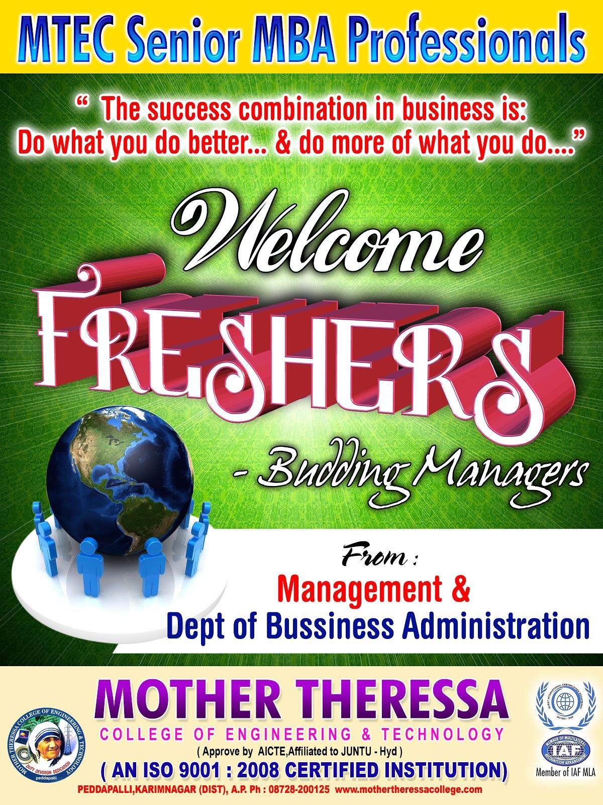Freshers Day New Design Srihitha Ads