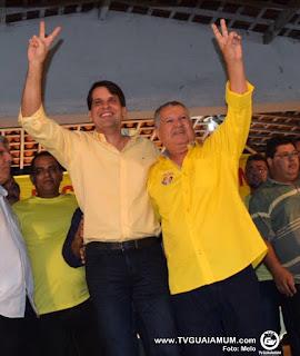 Vídeo: Edval Soares e Pauluca Moura oficializam chapa em Goiana Homologação ocorreu na noite desta quinta-feira (4) em evento na cidade