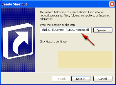 How to Create a Shortcut Safely Remove Hardware Device in Windows 3