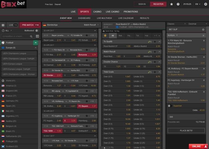 Bexbet Screen