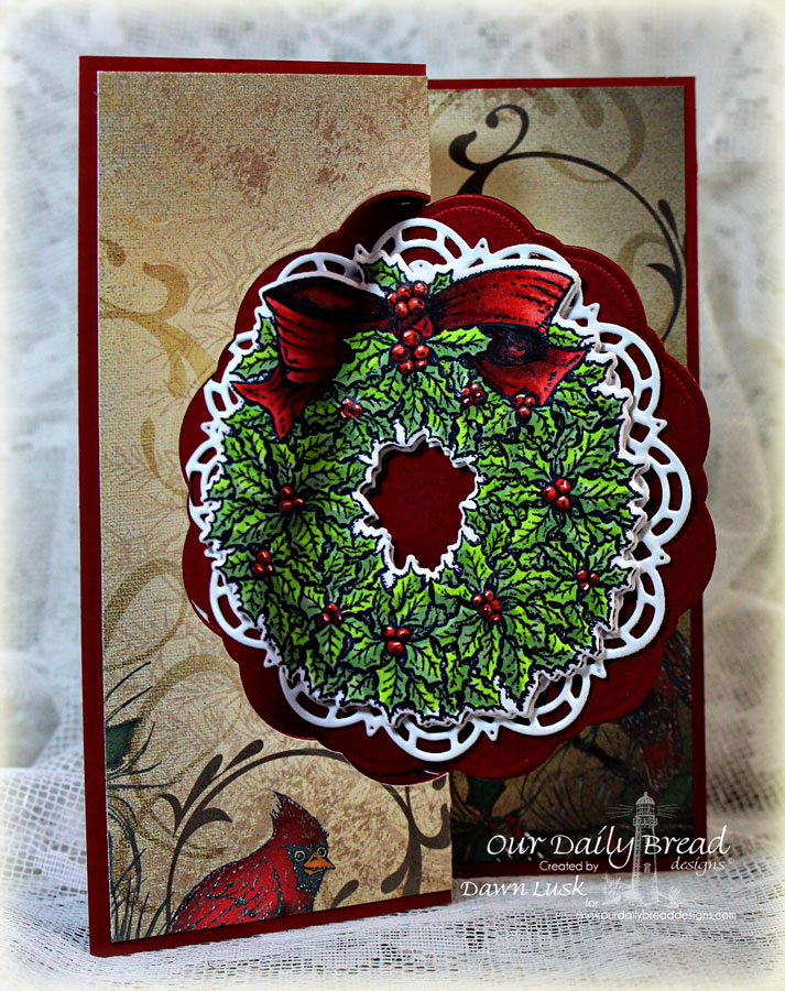 Stamps - Our Daily Bread Designs Holly Wreath, ODBD Custom Holly Wreath Die, ODBD Custom Doily Dies,  ODBD Christmas Collection 2013