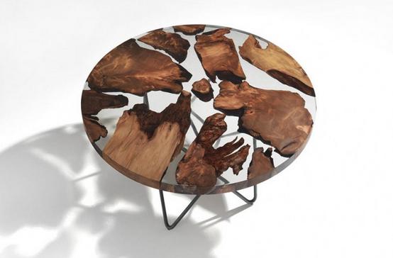 11 Desain meja kombinasi kayu dan epoxy resin super unik dan keren
