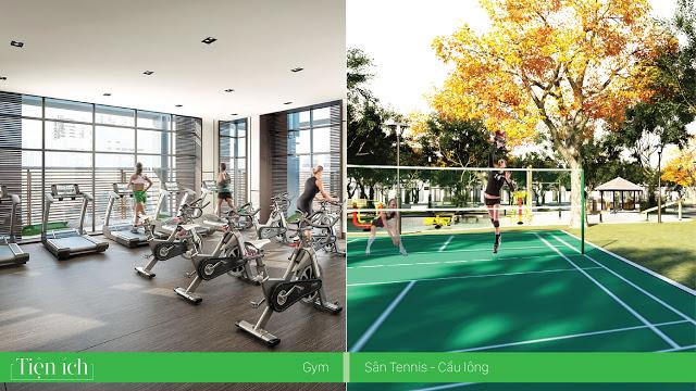 Khu tập Gym, khu thể thao nhằm nâng cao sức khỏe và sự thoải mái về tinh thần