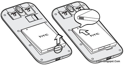 2Toer: HTC Desire SV Open Cover Insert dual SIM Card